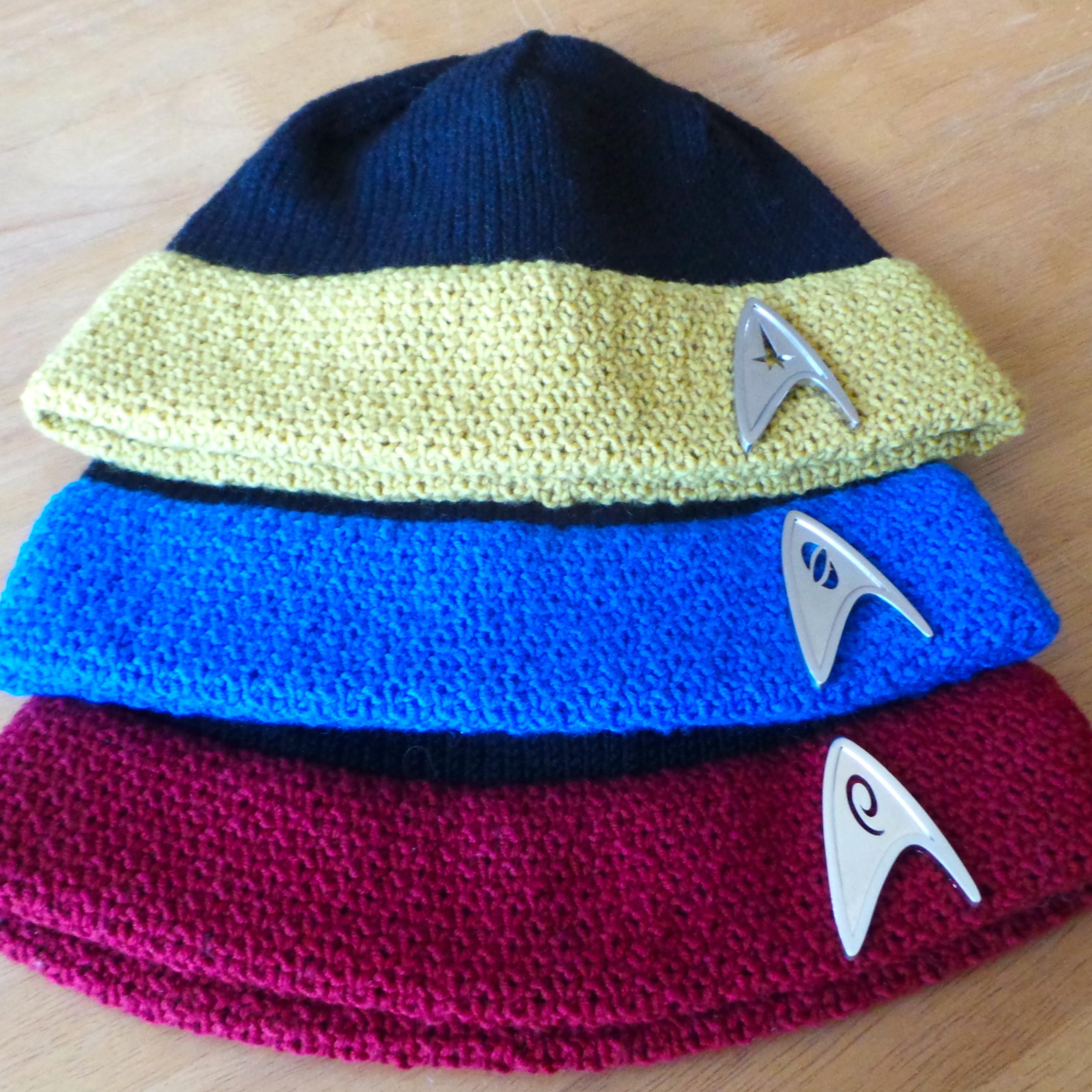 New Design: Star Trek Hat — Unraveled Designs and Yarn
