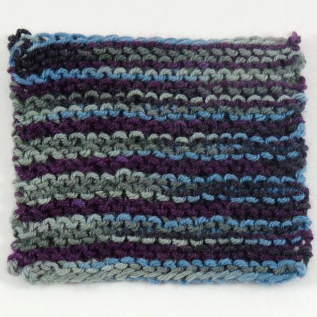 Craigh na Dun garter stitch swatch.